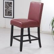 NOYA USA Luxury 24'' Bar Stool; Dark Red