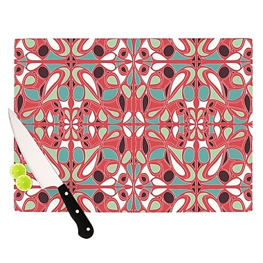 KESS InHouse Stained Glass Pink Cutting Board; 11.5'' H x 15.75'' W x 0.15'' D