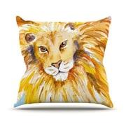 KESS InHouse Wild One Polyester Throw Pillow; 20'' H x 20'' W
