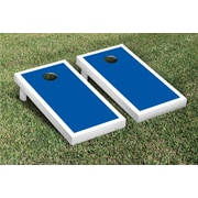 Victory Tailgate Border Matching Version 1 Cornhole Boards Game Set; White / Blue