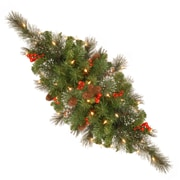 National Tree Co. Crestwood Spruce Pre-Lit 30'' Centerpiece w/35 Battery-Operated White LED Lights
