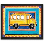 Timeless Frames School Bus Framed Painting Print