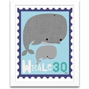 Timeless Frames Whale Animal Stamp Framed Textual Art