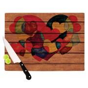 KESS InHouse Wooden Heart Cutting Board; 11.5'' H x 15.75'' W x 0.15'' D