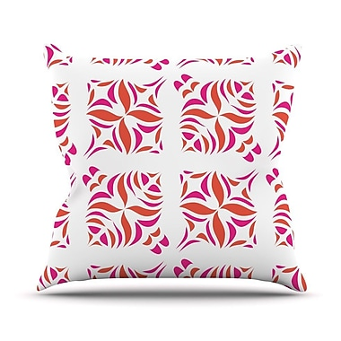 KESS InHouse Orange Oasis Throw Pillow; 26'' H x 26'' W