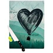 KESS InHouse Heart Set Sail Cutting Board; 8.25'' H x 11.5'' W x 0.25'' D