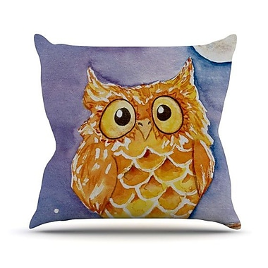 KESS InHouse Little Hoot Throw Pillow; 16'' H x 16'' W