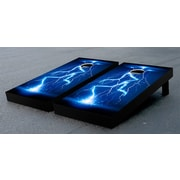 Victory Tailgate Lightning Electrical Themed Cornhole Game Set