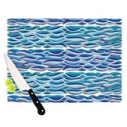 KESS InHouse The High Sea Cutting Board; 11.5'' H x 15.75'' W x 0.15'' D