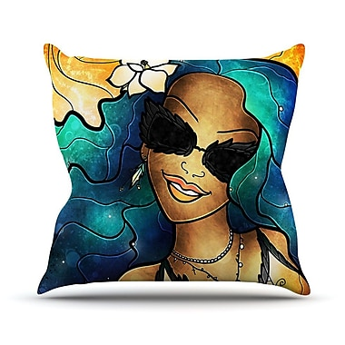 KESS InHouse Let The Good Times Roll Throw Pillow; 26'' H x 26'' W