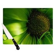 KESS InHouse Green Flower Cutting Board; 11.5'' H x 15.75'' W x 0.15'' D