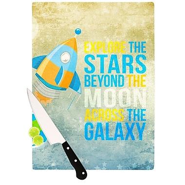 KESS InHouse Explore The Stars Cutting Board; 11.5'' H x 15.75'' W x 0.15'' D