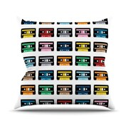 KESS InHouse Rainbow Tapes Polyester Throw Pillow; 26'' H x 26'' W