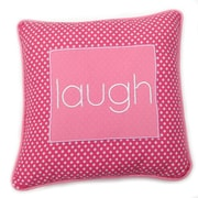 One Grace Place Simplicity Laugh Decorative Cotton Throw Pillow; Hot Pink