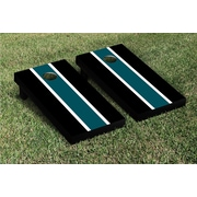 Victory Tailgate Striped Matching Version 2 Cornhole Boards Game Set; Midnight Green / Black