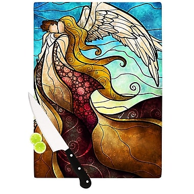 KESS InHouse In The Arms of The Angel Cutting Board; 8.25'' H x 11.5'' W x 0.25'' D