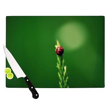 KESS InHouse Ladybug Hugs Cutting Board; 11.5'' H x 15.75'' W x 0.15'' D