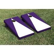 Victory Tailgate Triangle Matching No Stripe Version 2 Cornhole Boards Game Set; White / Purple