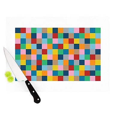 KESS InHouse Colour Blocks Zoom Cutting Board; 8.25'' H x 11.5'' W x 0.25'' D