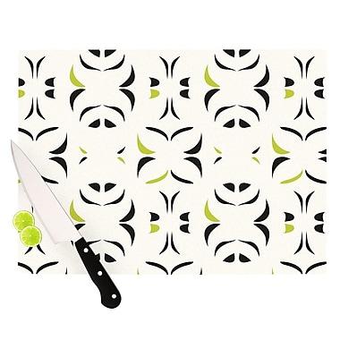 KESS InHouse Retro Green Snow Storm Cutting Board; 8.25'' H x 11.5'' W x 0.25'' D