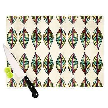 KESS InHouse Tribal Leaves Cutting Board; 8.25'' H x 11.5'' W x 0.25'' D