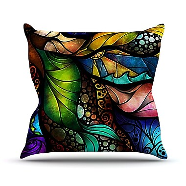 KESS InHouse Sleep And Awake Throw Pillow; 16'' H x 16'' W