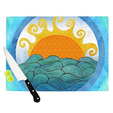 KESS InHouse Happy Day Cutting Board; 8.25'' H x 11.5'' W x 0.25'' D