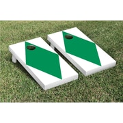 Victory Tailgate Diamond Matching No Stripe Version 1 Cornhole Boards Game Set; White / Light Green