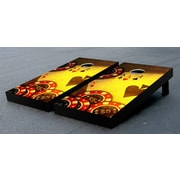 Victory Tailgate Poker Cards and Chips Cornhole Game Set