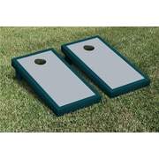 Victory Tailgate Border Matching Version 2 Cornhole Boards Game Set; Gray / Midnight Green