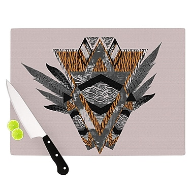 KESS InHouse Indian Feather Cutting Board; 8.25'' H x 11.5'' W x 0.25'' D