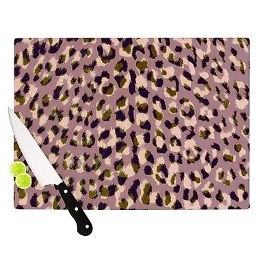 KESS InHouse Leopard Print Cutting Board; 11.5'' H x 15.75'' W x 0.15'' D