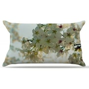 KESS InHouse Cherry Blossoms Pillow Case; King