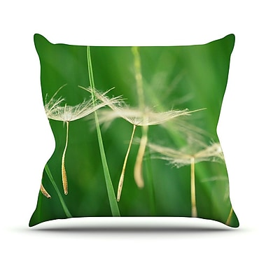 KESS InHouse Best Wishes Throw Pillow; 26'' H x 26'' W