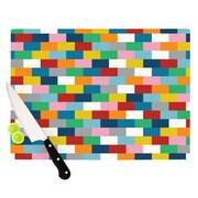 KESS InHouse Bricks Cutting Board; 8.25'' H x 11.5'' W x 0.25'' D