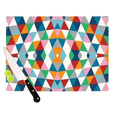 KESS InHouse Geometric Cutting Board; 8.25'' H x 11.5'' W x 0.25'' D