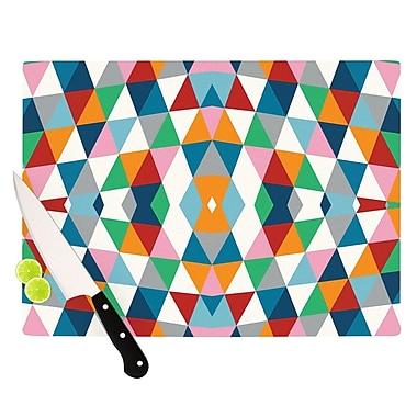 KESS InHouse Geometric Cutting Board; 11.5'' H x 15.75'' W x 0.15'' D