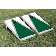 Victory Tailgate Triangle Matching Version 1 Cornhole Boards Game Set; White / Dark Green