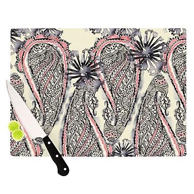 KESS InHouse Inky Paisley Bloom Cutting Board; 8.25'' H x 11.5'' W x 0.25'' D
