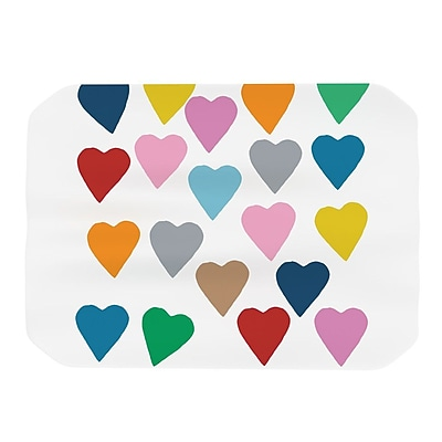 KESS InHouse Colorful Hearts Placemat WYF078277016278
