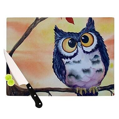 KESS InHouse Hootie Cutie Cutting Board; 11.5'' H x 15.75'' W x 0.15'' D