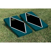 Victory Tailgate Diamond Matching Version 1 Cornhole Boards Game Set; Midnight Green / Black