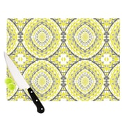 KESS InHouse Yellow Tessellation Cutting Board; 11.5'' H x 15.75'' W x 0.15'' D