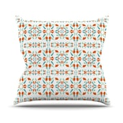 KESS InHouse Italian Kitchen Orange  Throw Pillow; 18'' H x 18'' W