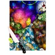 KESS InHouse Fairy Tale Alice In Wonderland Cutting Board; 8.25'' H x 11.5'' W x 0.25'' D