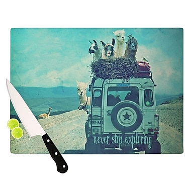 KESS InHouse Never Stop Exploring III Cutting Board; 8.25'' H x 11.5'' W x 0.25'' D