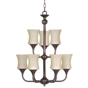 Whitfield Lighting Trina 9-Light Shaded Chandelier