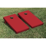 Victory Tailgate Solid Cornhole Boards Game Set; Crimson