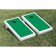 Victory Tailgate Border Matching Version 1 Cornhole Boards Game Set; White / Light Green