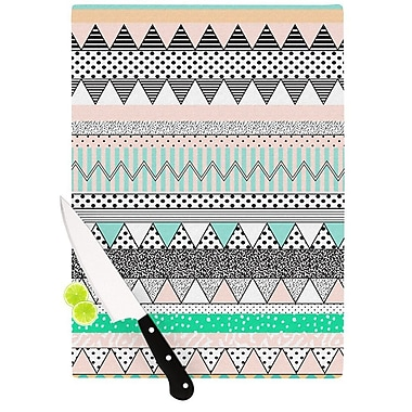 KESS InHouse Chevron Motif Cutting Board; 11.5'' H x 15.75'' W x 0.15'' D